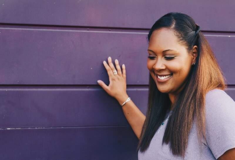 otimismo mulher sorrindo